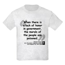 Hoover Morals Quote T-Shirt