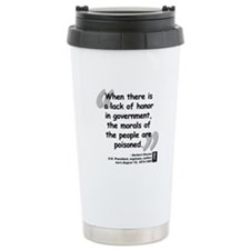 Hoover Morals Quote Thermos Mug