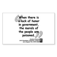 Hoover Morals Quote Decal
