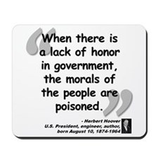 Hoover Morals Quote Mousepad