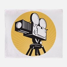 vintage movie camera Throw Blanket