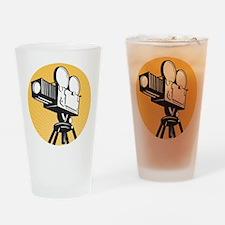 vintage movie camera Drinking Glass