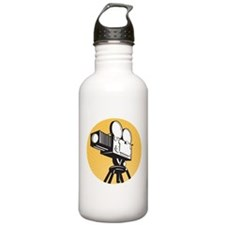 vintage movie camera Water Bottle