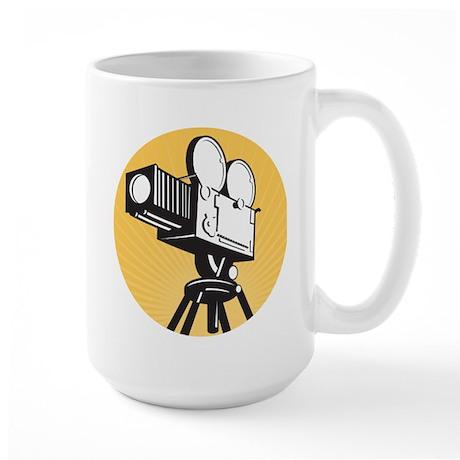 vintage movie camera Large Mug