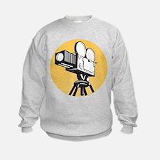 vintage movie camera Sweatshirt