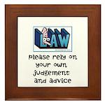 Commercial Lawyer's Framed Tile