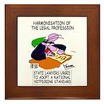 Nitpicking Lawyer's Framed Tile