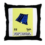 Active lawyer's Throw Pillow
