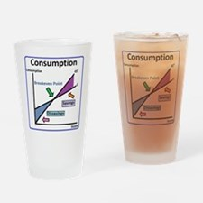 Cute Consumption Drinking Glass