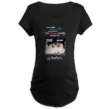 NDSC Event in BLACK Maternity Dark T-Shirt