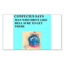 confucius jokes Decal
