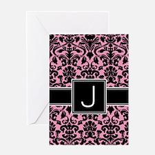Monogram Letter J Gifts Greeting Card