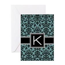 Monogram Letter K Gifts Greeting Card