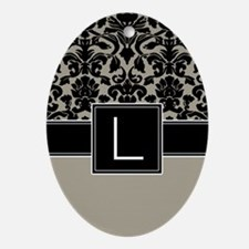 Monogram Letter L Gifts Ornament (Oval)