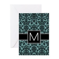 Monogram Letter M Greeting Card