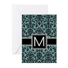 Monogram Letter M Greeting Cards (Pk of 10)