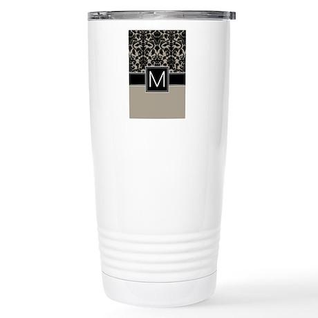 Monogram Letter M Stainless Steel Travel Mug