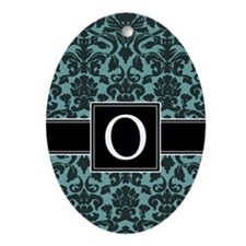 Monogram Letter O Gifts Ornament (Oval)