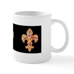 Jeweled Fleur de lis Mug