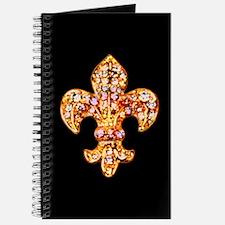 Jeweled Fleur de lis Journal