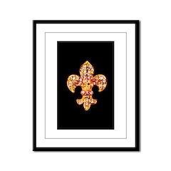 Jeweled Fleur de lis Framed Panel Print