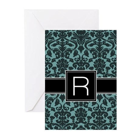 Monogram Letter R Gifts Greeting Cards (Pk of 10)