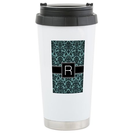 Monogram Letter R Gifts Stainless Steel Travel Mug
