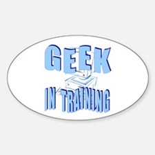 Geek in Training Oval Decal