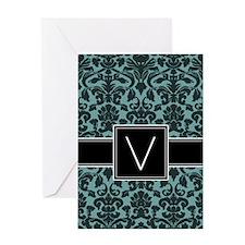 Monogram Letter V Gifts Greeting Card