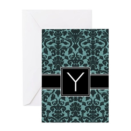 Monogram Letter Y Gifts Greeting Card