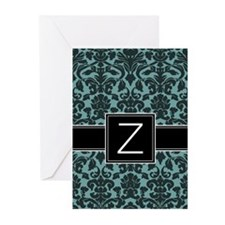 Monogram Letter Z Gifts Greeting Cards (Pk of 10)
