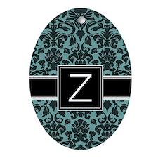 Monogram Letter Z Gifts Ornament (Oval)