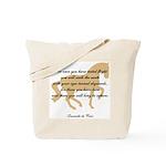 da Vinci flight saying - horse Tote Bag