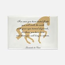 da Vinci flight saying - horse Rectangle Magnet