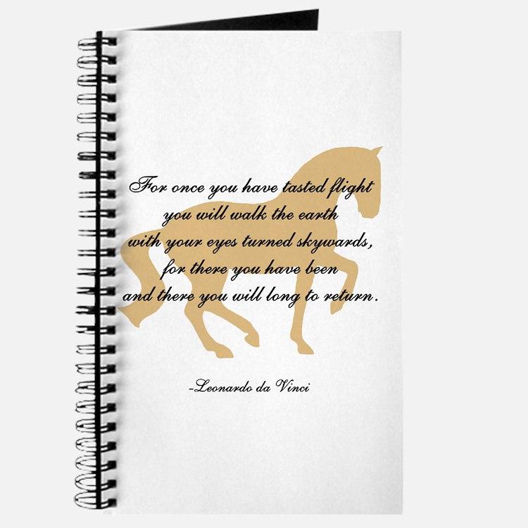 da Vinci flight saying - horse Journal