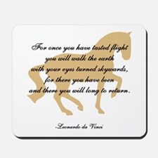 da Vinci flight saying - horse Mousepad