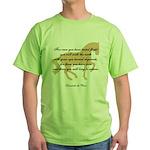 da Vinci flight saying - horse Green T-Shirt