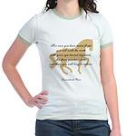 da Vinci flight saying - horse Jr. Ringer T-Shirt