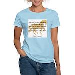da Vinci flight saying - horse Women's Pink T-Shir