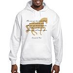 da Vinci flight saying - horse Hooded Sweatshirt