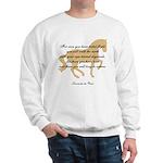 da Vinci flight saying - horse Sweatshirt