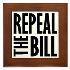 REPEAL the BILL Framed Tile