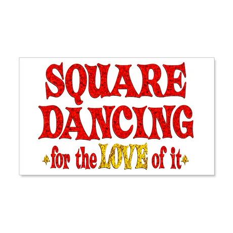 Square Dancing Love 22x14 Wall Peel