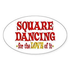 Square Dancing Love Decal