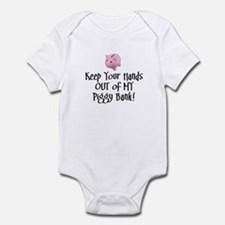 'Keep your hands out of my piggy bank!' Infant Bod