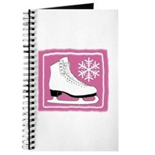Bright Pink Ice Skate Journal