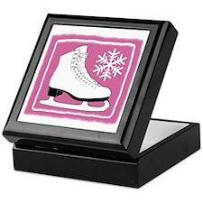 Bright Pink Ice Skate Keepsake Box