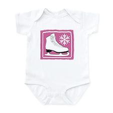 Bright Pink Ice Skate Infant Bodysuit