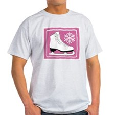 Bright Pink Ice Skate T-Shirt