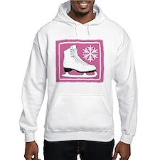 Bright Pink Ice Skate Jumper Hoody